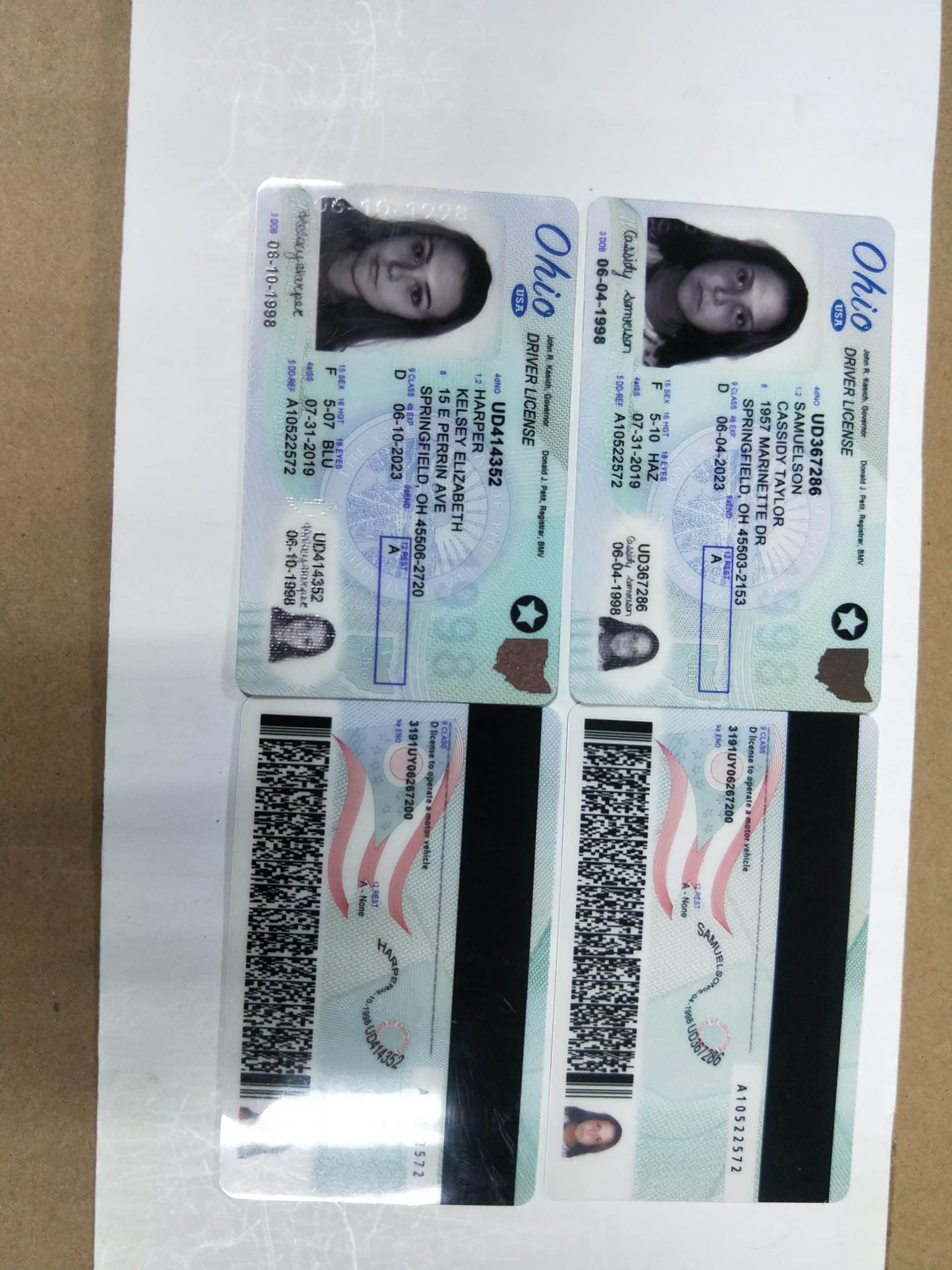 ohio fake id sample