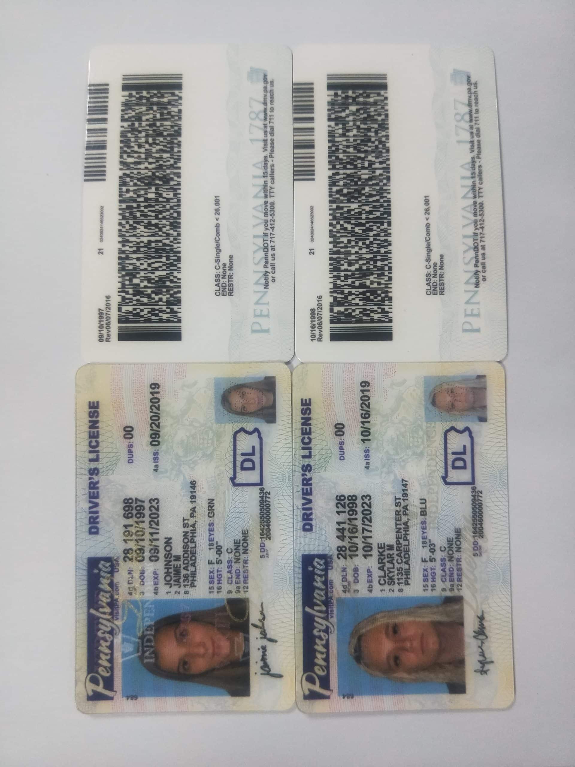 pennsylvania fake id